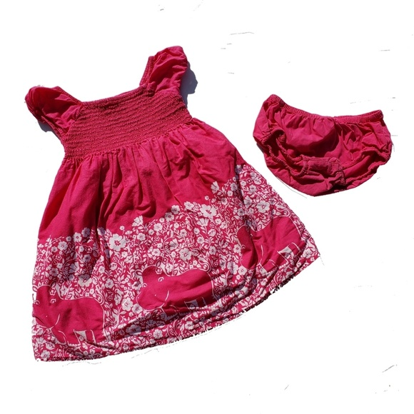Gymboree Other - Gymboree Dress Size 3T Batik Summer Hippo Pink